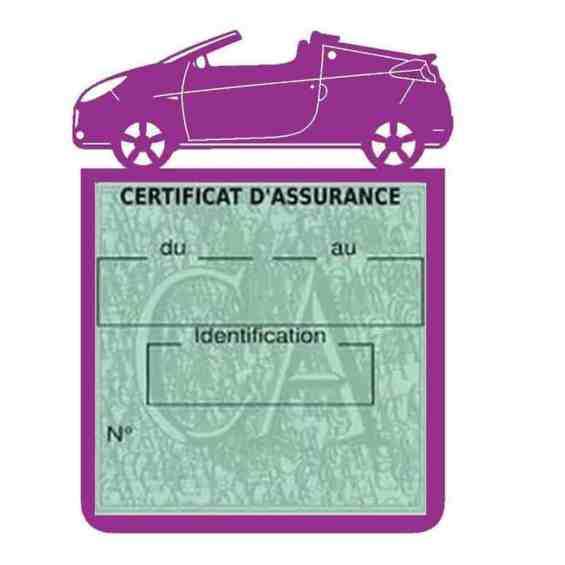 WIND RENAULT étui assurance voiture mauve