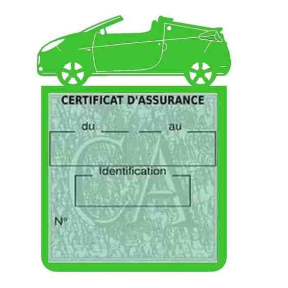 WIND RENAULT étui assurance voiture vert clair