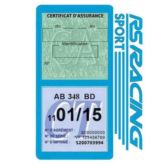RS Racing Sport Vignette assurance voiture bleu clair