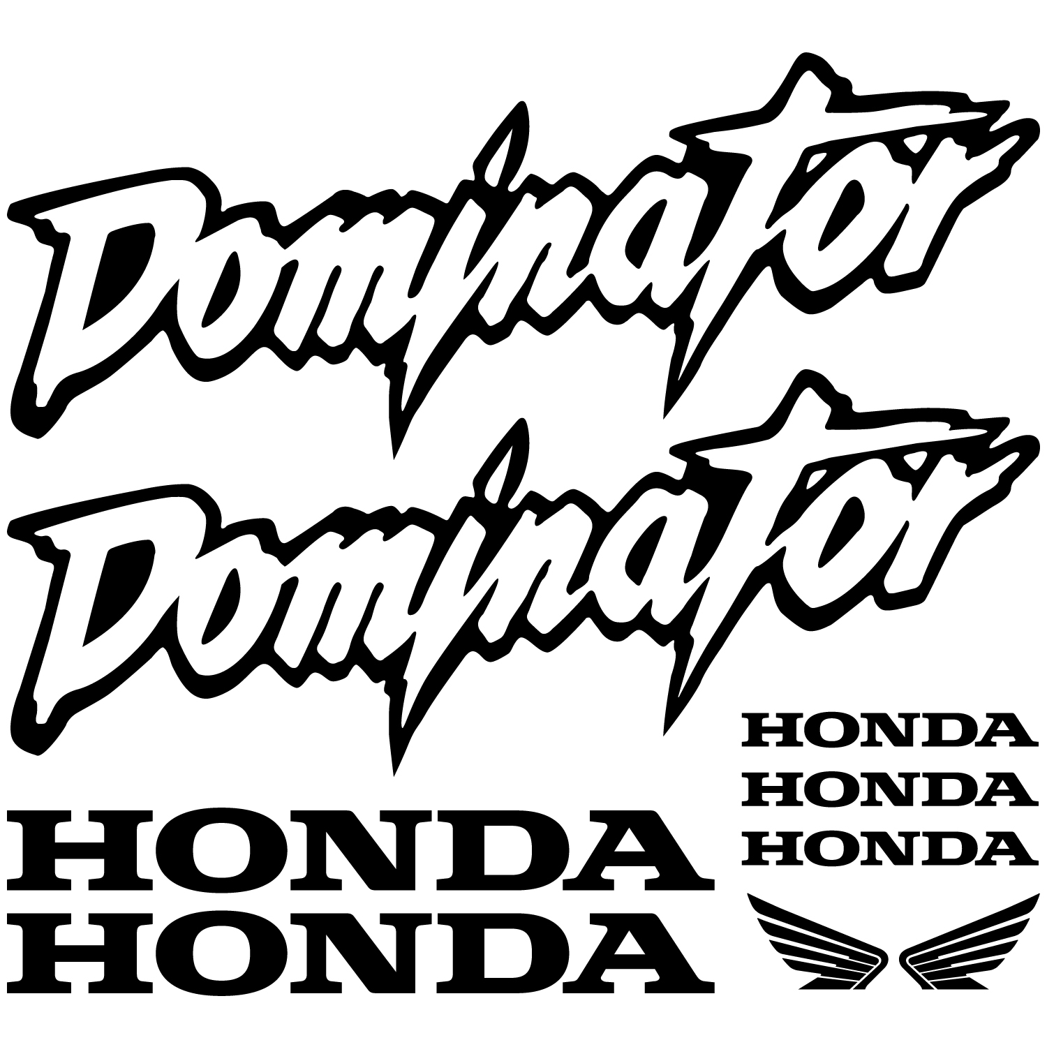 Stickers Honda Dominator Pas Cher