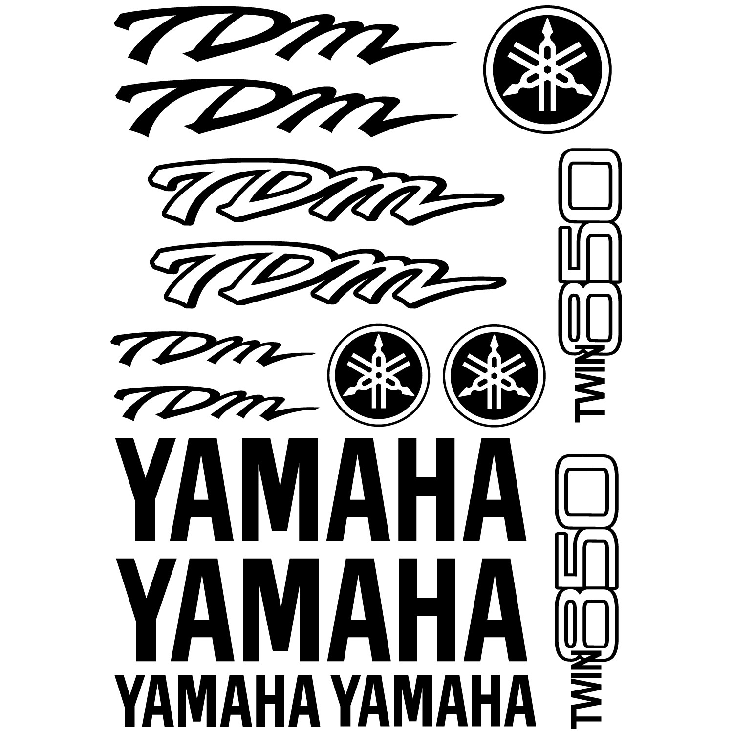 Stickers Yamaha Tdm Twin 850