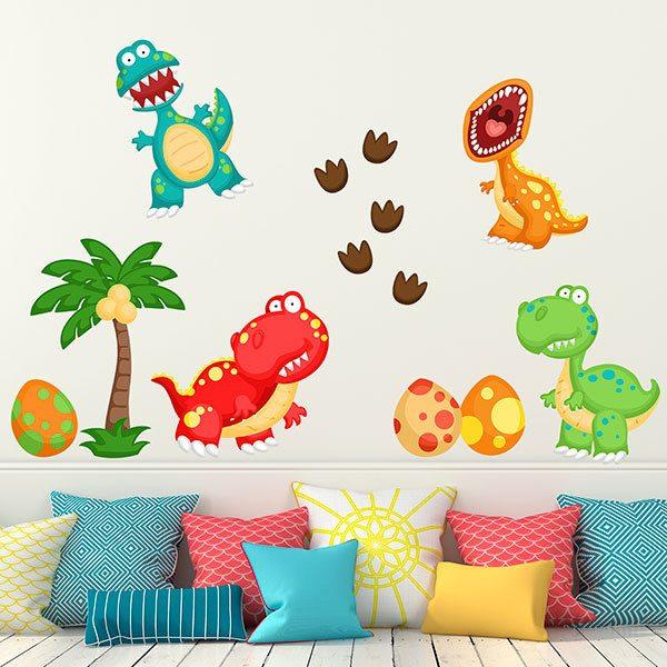 Scarica questo vettore gratis su modello di dinosauro bambino carino. Adesivo Murale Bambini Kit Dinosauro Stickersmurali Com