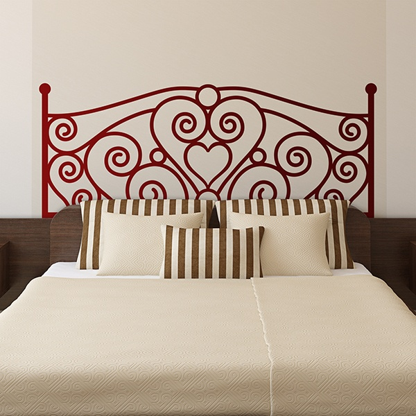 Applicare una testata letto adesiva.colorata o in bianco e nero, astratta o dalle fantasie romantiche. Adesivi Murali Testata Letto Dell Amore Stickersmurali Com