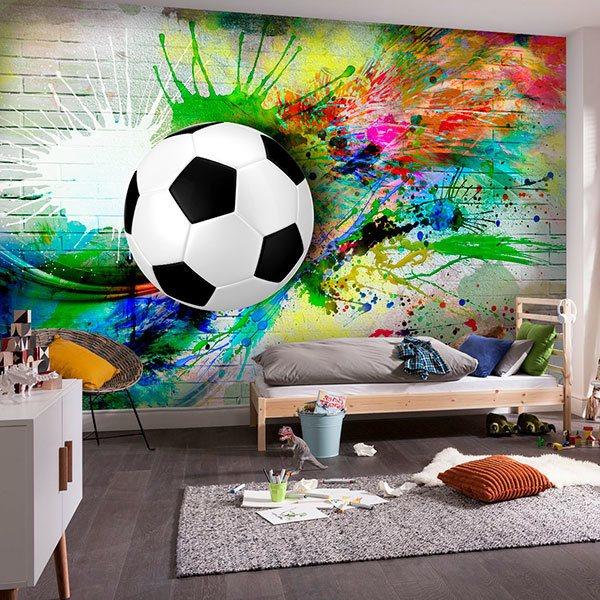 Wallpaper for the boys' room is very versatile. Carta Da Parati Per Teenager Stickersmurali Com