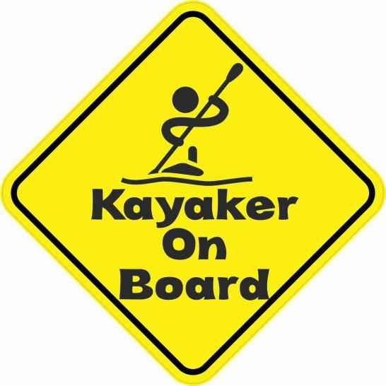 Kayaker on Board Sticker