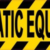 Automatic Equipment Sticker