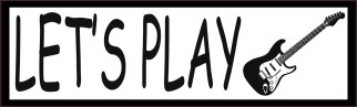 Let's Play Electric Guitar Bumper Sticker