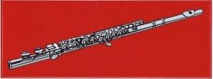 Red Flute Bumper Sticker