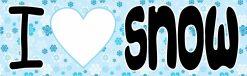I Love Snow Vinyl Sticker