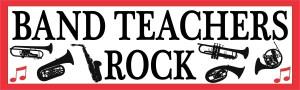 Red Band Teachers Rock Bumper Sticker