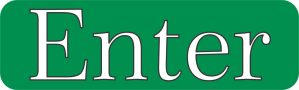 Green Enter sticker