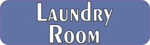 Blue Laundry Room Sticker