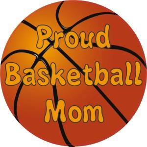 Proud Basketball Mom Sticker