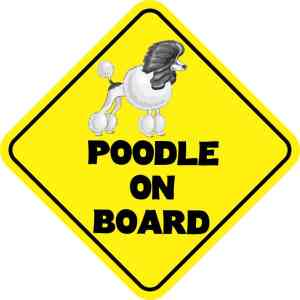 Poodle On Board Magnet