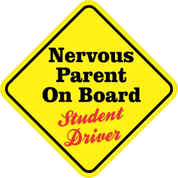 Nervous Parent On Board Sticker