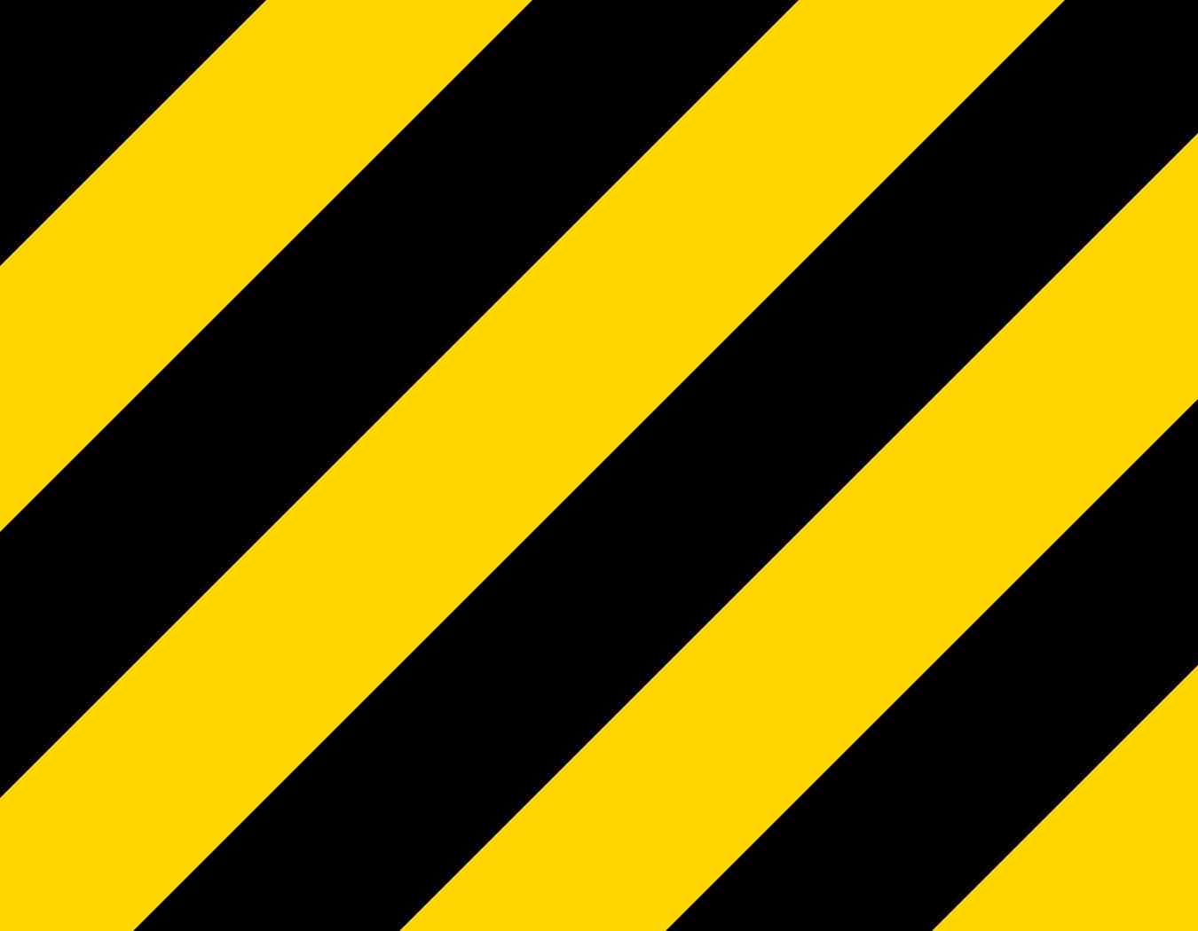 9in X 7in Yellow And Black Warning Vinyl Sticker Sheet