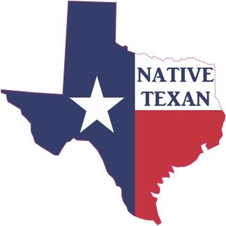 Native Texan Texas Stickers