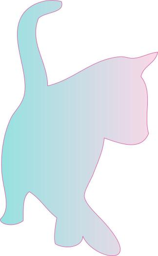 Pink Blue Cat Car Decals