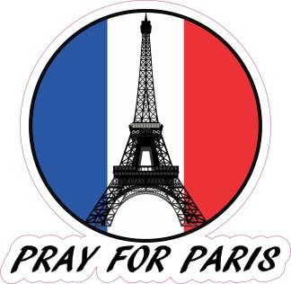 Pray for Paris die cut bumper decal