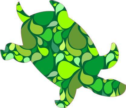 Green Paisley Sea Turtle Stickers