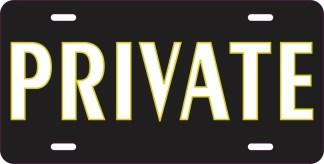 Private Aluminum Sign Plate