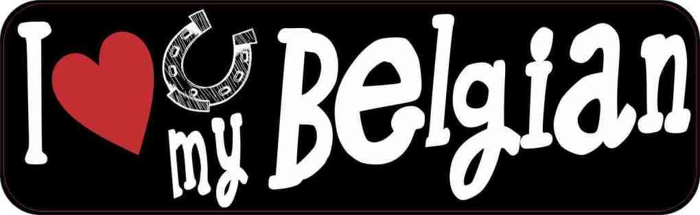 I Love My Belgian Bumper Sticker