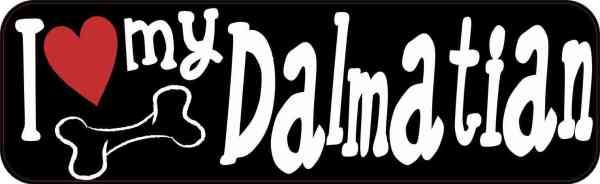 I Love My Dalmatian Bumper Sticker