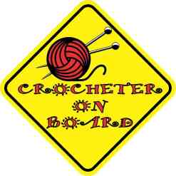 Crocheter on Board Magnet