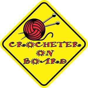 Crocheter on Board Magnet