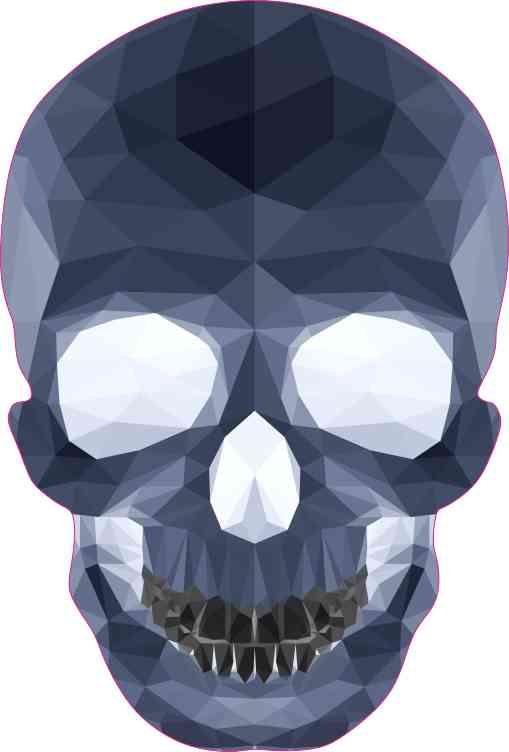 blue crystal skull bumper sticker
