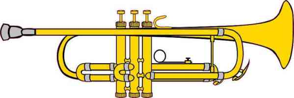 Die Cut Trumpet Bumper Sticker