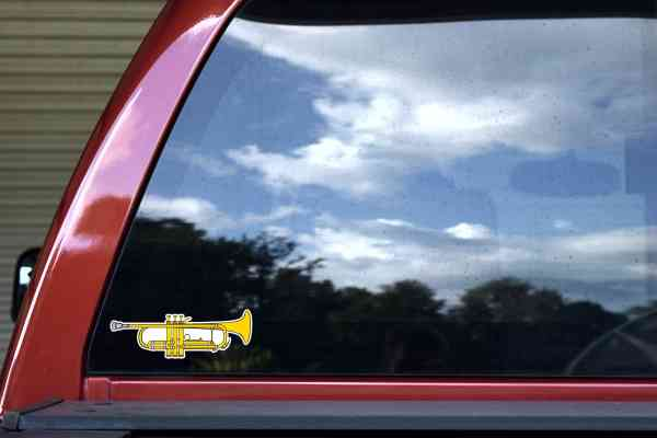 Die Cut Trumpet Sticker