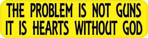 the problem is not guns bumper