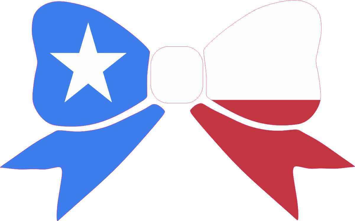 8in x 5in texas flag bow bumper sticker decal window stickers car bow bumper sticker biocorpaavc