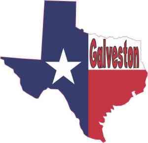 Galveston Texas Flag decal