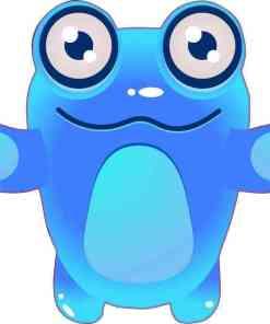 Blue Hug Alien bumper sticker