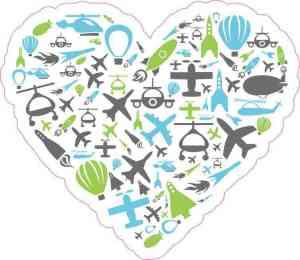 travel heart bumper sticker