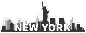 New York Skyline Bumper Sticker
