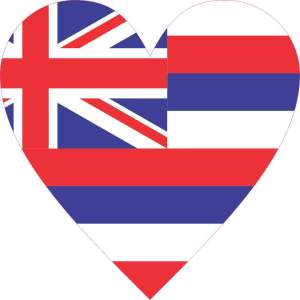 Hawaii Heart sticker