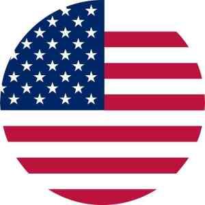 Circular American Flag sticker
