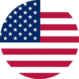 Circular American Flag sticker