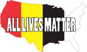 America All Lives Matter sticker