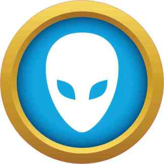 Blue and Gold Alien bumper sticker