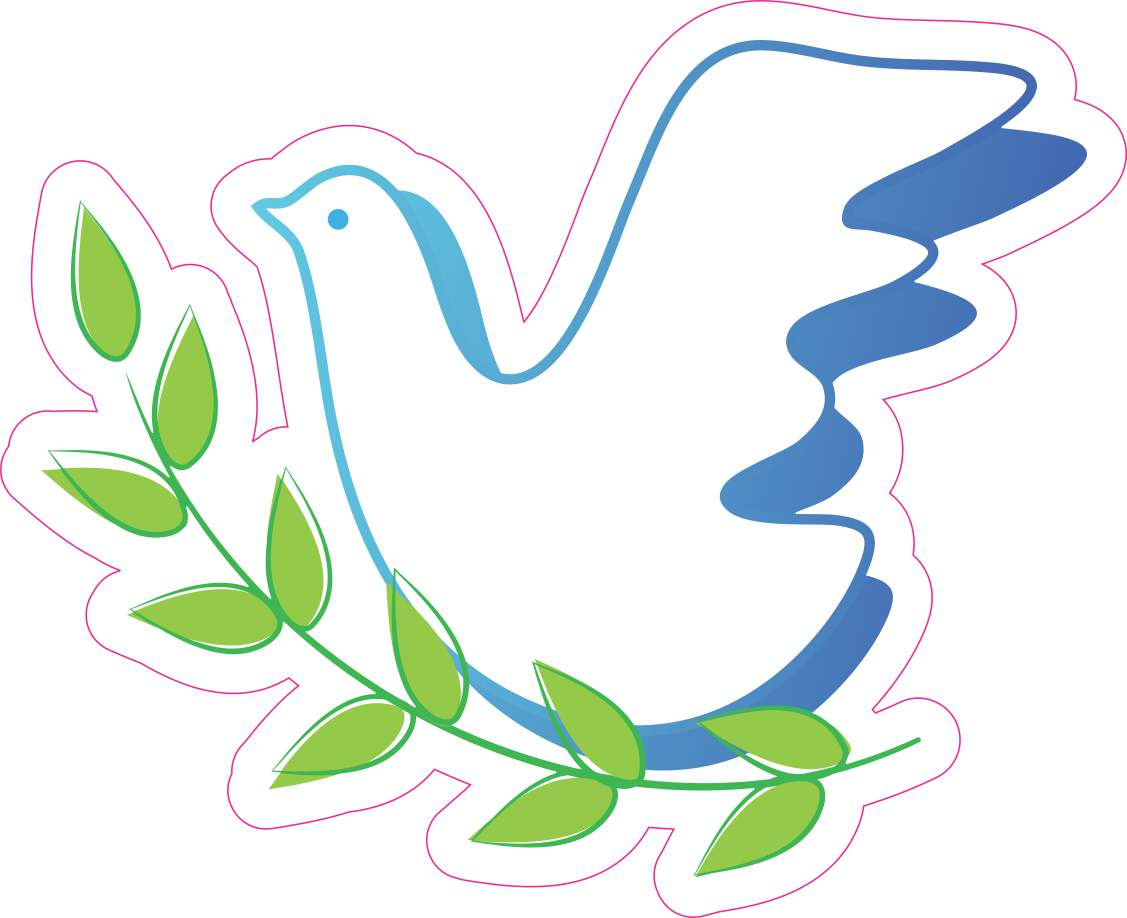 Dove and Olive Branch sticker