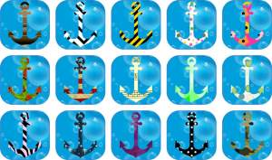 multi pattern anchor stickers