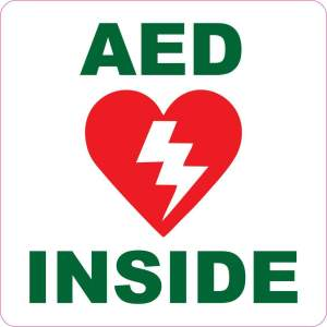 aed inside sticker
