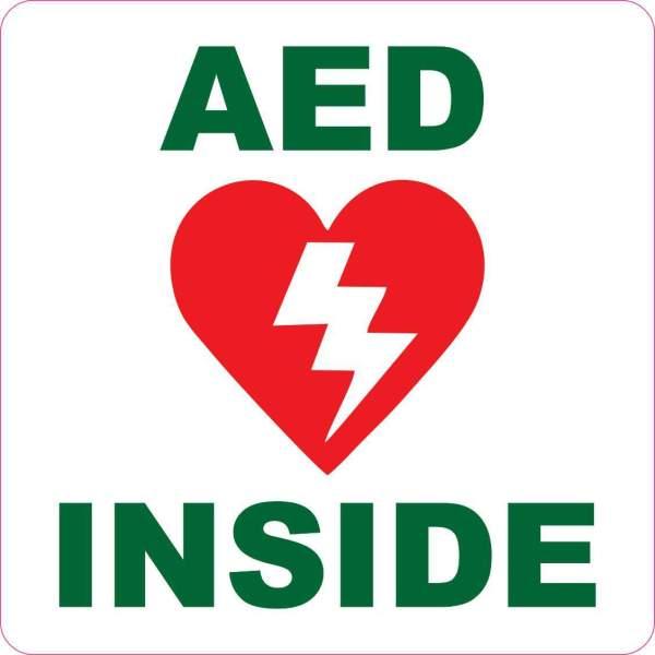 aed inside sticker