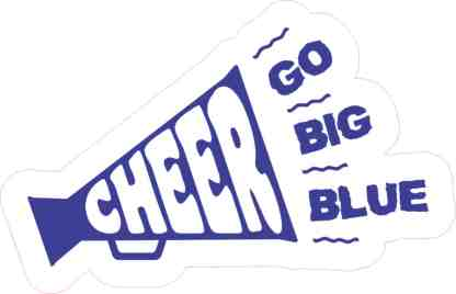 Megaphone Cheer sticker