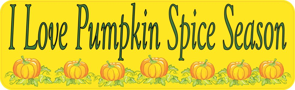 I Love Pumpkin Spice Season Bumper Sticker