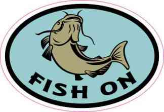 Oval Fish On Sticker